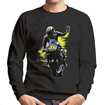 Motorsport Images Valentino Rossi Waves Men's Sweatshirt