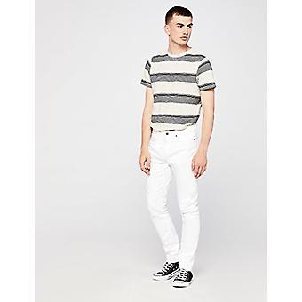 Encontrar. Standard Men's Slim Fit Jeans, Blanco, W33 x L30