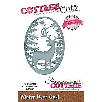 Skrotning Stuga Vinter hjort Oval (Elites) (CCE-528)