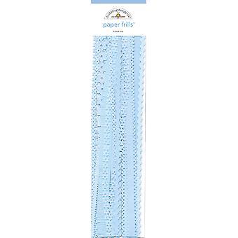 סלסולים מנייר כחול בועת עיצוב שרבוט (32pcs) (1242)