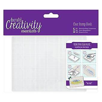 Docrafts A6 Clear Stamp Block