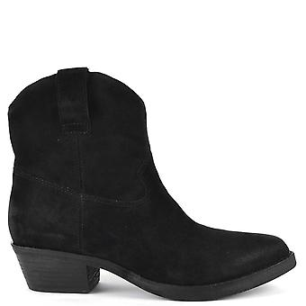 Ash IKE Black Suede Boots