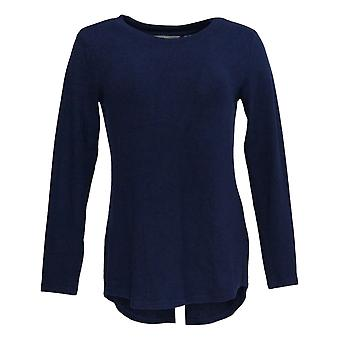 Lisa Rinna Collection Women's Sweater (XXS) Hacci Knit LS Blue A341720