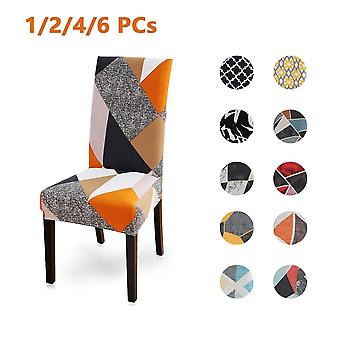 Spandex Printed Stretch Elastic Universal Slipcovers & Chair Cover For Dining Room Wedding Banquet Hotel