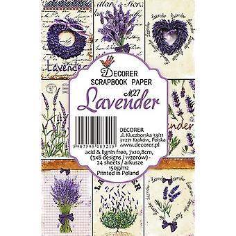 Decorer Lavender Paper Pack (7x10.8cm) (M27)