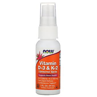 Now Foods, Vitamin D-3 & K-2, Liposomal Spray, 2 fl oz (59 ml)
