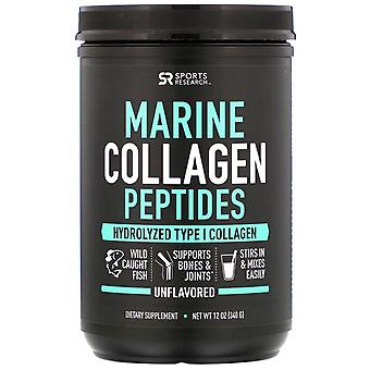 Sports Research, Marine Collagen Peptiden, Unflavored, 12 oz (340 g)