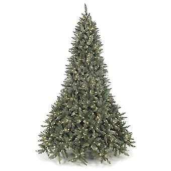 Autograph Foliages Christmas Tree Frosted Mixed Needle Tree With Laser Glitter 7.5 Feet Tall