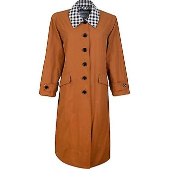 Barbour By Alexa Chung Glenda Casual Gingham Trench Coat