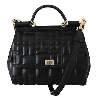 Black cross body purse satchel sicily leather bag