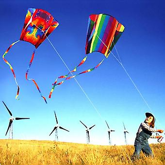 Parafoil Kite colorato con 200cm Codes - 30m Flying Line Outdoor Soft Fly Kite Giocattoli per bambini