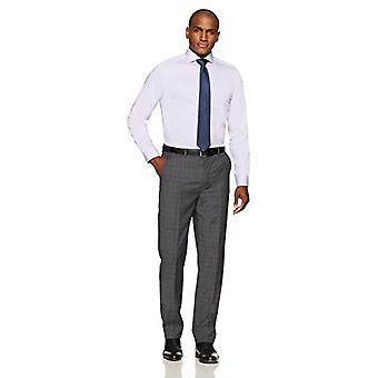 "BUTTONED DOWN Men's Fitted Cutaway-Collar Non-Iron Dress Shirt, Purple, 16"" N..."