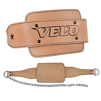 VELO Leather Dip Belt Weight Lifting DP3