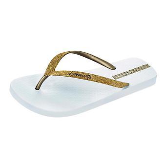 Womens Sparkle Ipanema Tongs / sandales-or blanc