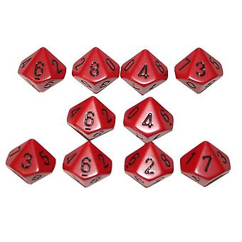 Chessex Opaque 10 x D10 Set - Red/black