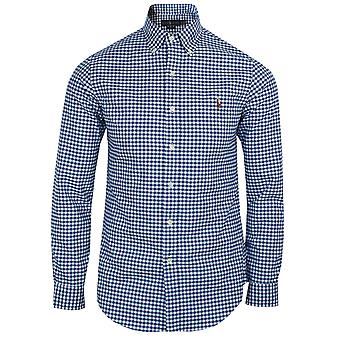Ralph lauren men's royal blue and white oxford shirt