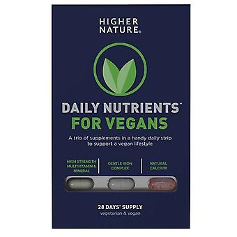Higher Nature Daily Nutrients for Vegans Caps 28 (DNVE028)