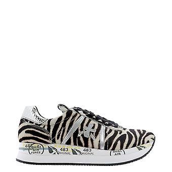 Premiata Conny4814 Women's Leopard Pony Skin Sneakers