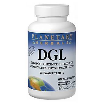 Réglisse DGL à base de plantes planétaires, 100 onglets à mâcher