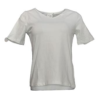 Vrouwen met Control Women's Top Essentials V-Neck T-Shirt White A306793