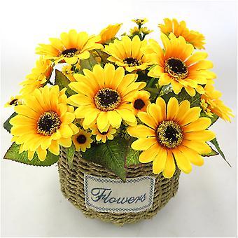 Symulacja Słonecznik Sztuczny Bukiet Kwiatów