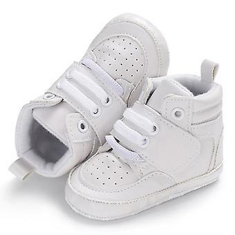 Zachte bodem, anti skid, lederen laarzen voor baby en