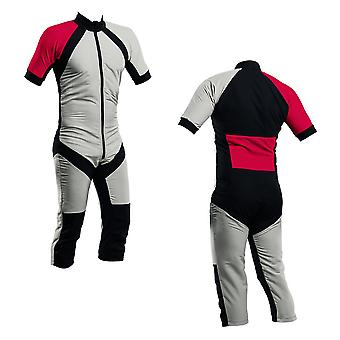 Skydiving summer suit silver-red s2-03