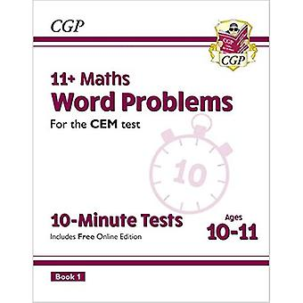 New 11+ CEM 10-Minute Tests: Maths Word Problems - Ages 10-11 Book 1 (with� Online Edition)