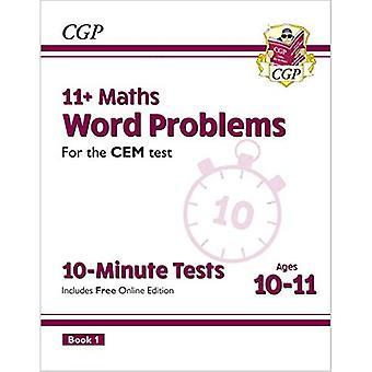 Nye 11 + CEM 10-minutters test: Matematik Word Problemer - Ages 10-11 Book 1 (med Online Edition)