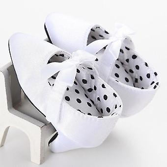 Newborn Baby Princess Bowknot Crib Shoes With High Heels For Photos