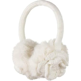 KitSound Audio On-Ear Earmuffs with Built In Headphones In-Line Mic Flower Knit
