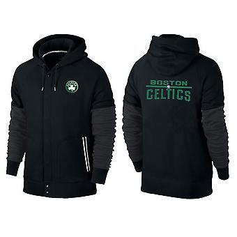 BostonCeltics Buttoned zipper sports hooded loose sweatshirt sportswear WT015