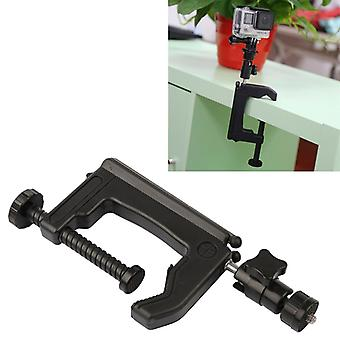 Table Clamp Desktop Holder Mount + Tripod Adapter for GoPro  NEW HERO /HERO6   /5 /5 Session /4 Session /4 /3+ /3 /2 /1, Xiaoyi and Other Action Camer