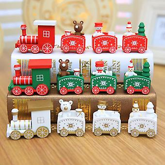 Christmas Train Painted Wooden