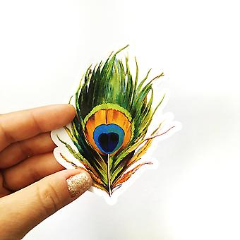 الطاووس الريش الفينيل ملصق