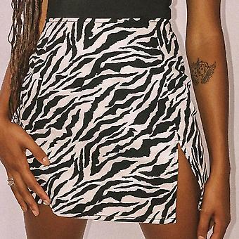 Donna Mini Gonna Vita Alta Leopard Zebra Stampa Festa Clubwear Casual Short