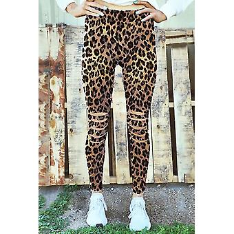 Womens Leopard Fitness Activewear Leggings