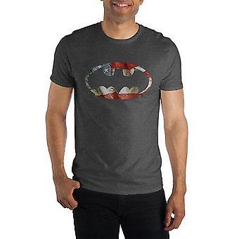 باتمان الوطنية الخفافيش رمز تي شيرت قميص تي شيرت