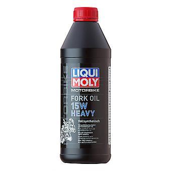 Liqui Moly 15W Motorcycle Motorbike Motorbike Heavy Fork Oil 1 Litre