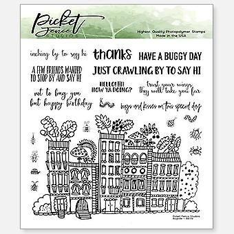 Picket Fence Studios Bugville 6x6 Inch Clear Stamps