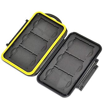 Jjc sturdy and rigid memory card storage case fits 6 x xqd cards