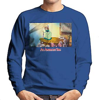 An American Tail Bridget Holding Pink Umbrella Men's Sweatshirt