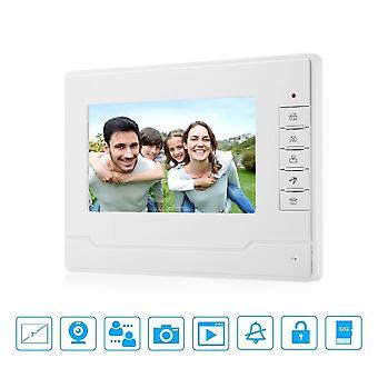 "7"" Tft Color Video Deurbel, Telefoon Intercom Indoor, Monitor Screen, Unit With"