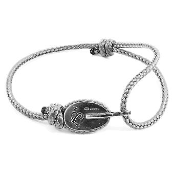 Pulsera de plata y cuerda de LONDRes ANCHOR & CREW