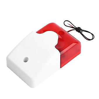 9-12v Mini Indoor Wired Strobe Sirene mit rotem Licht / Flash Sound / Sicherheit