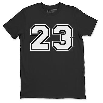 Number 23 Jordan 1 Black White Sneakers T-Outfits - AJ1 Match Outfits