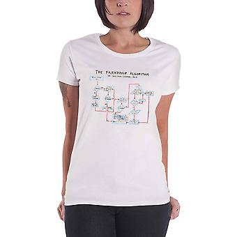 The Big Bang Theory T Shirt Friendship Algorithm new Official Womens Skinny Fit