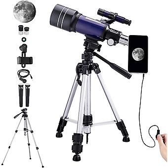150X Telescope for Kids Astronomy Beginners Adults, 70mm HD Refractor Telescope