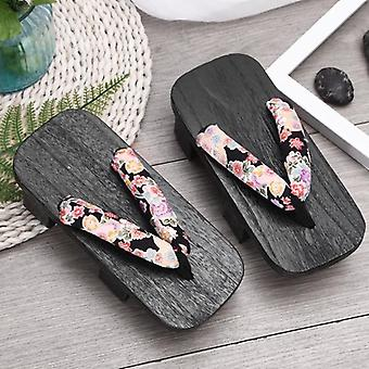 Chaussures traditionnelles japonaises Casual Wooden And Chinese Oriental Summer Flip Flops