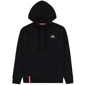 Alpha Industries Men's Hooded Sweater Basic Hoody Small Logo Foil Print